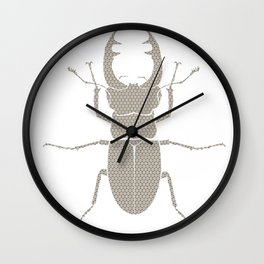 beetle with patterns Wall Clock