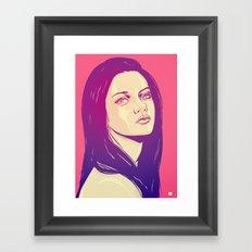 Mila Kunis Framed Art Print