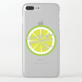 When life gives you lemons grab tequila & salt Clear iPhone Case