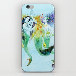 Three Mermaids iPhone Skin