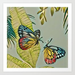 Butterfly couple Art Print