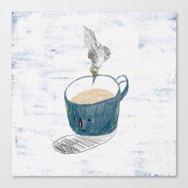 Blue mug Canvas Print
