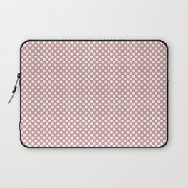 Bridal Rose and White Polka Dots Laptop Sleeve