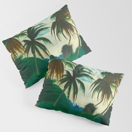 Tropical Scene with Palms and Flowers by Joseph Stella Pillow Sham