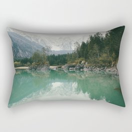Turquoise lake - Landscape and Nature Photography Rectangular Pillow