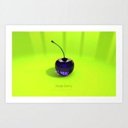 Purple Glass Cherry Art Print