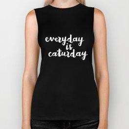Everyday Is Caturday Biker Tank