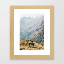 Salkantay Trek to Machu Picchu - horses - Wild Veda Framed Art Print