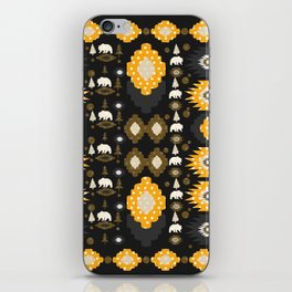 Ethnic winter pattern with little bears iPhone Skin
