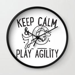 Keep calm & play agility Wall Clock