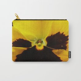 Golden Black Eyed Pansy Violet Yellow Flower Carry-All Pouch