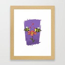 Bee Mine Valentine Framed Art Print