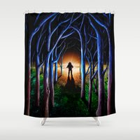oasis Shower Curtains featuring Oasis by nicebleed