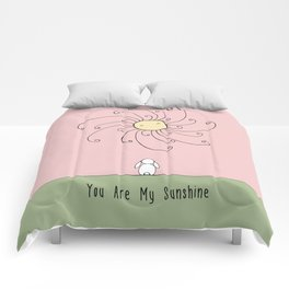 You are my sunshine - Pink Comforters