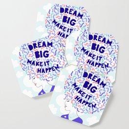 'Dream Big' Girl Power Portrait Coaster