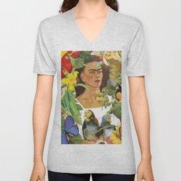 Frida Kahlo Collage Unisex V-Neck