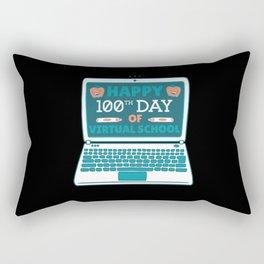 Happy 100th Day of Virtual School Student Teacher Rectangular Pillow