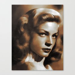 Lauren Bacall, Hollywood Legends Canvas Print