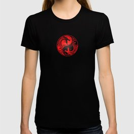 Yin Yang Dragons Red and Black T-shirt