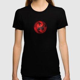 Yin Yang Dragons Red and Black T-shirt