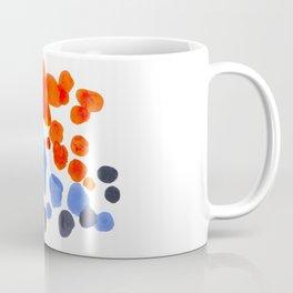 Rorschach Inkblot Diagram Psychology Abstract Symmetry Colorful Watercolor Art Blue Orange Complemen Coffee Mug