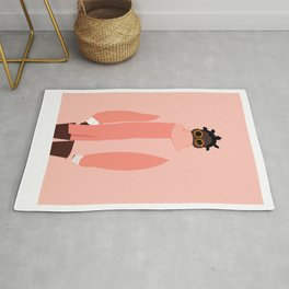 Pink winter Rug