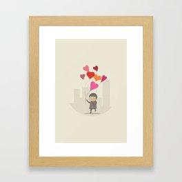 The Love Balloons Framed Art Print