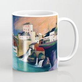 Mostar Old Town Panorama, Stari Most Bridge, Bosnia and Herzegovina by Tivadar Csontváry Kosztka Coffee Mug