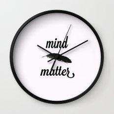 Mind > Matter (white) Wall Clock