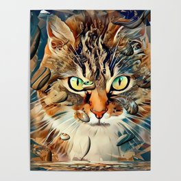 Cats Popart by Nico Bielow Poster