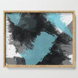 Black and Blue Paint Splash Serving Tray