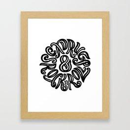 Sex, Drugs & Rock n Roll Framed Art Print