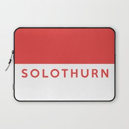 Solothurn region switzerland country flag name text swiss Laptop Sleeve