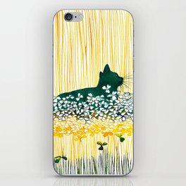 Clover Cat iPhone Skin