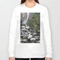 waterfall Long Sleeve T-shirts featuring Waterfall by Michael Hewitt