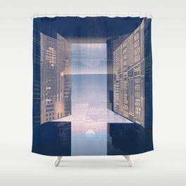 Room -A- Post Biological Era Shower Curtain