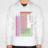 periodic table Hoodies featuring Periodic Table Of  The Elements by GrafXthings
