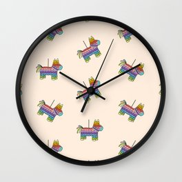 Life of the Party | Peach Pinata Wall Clock