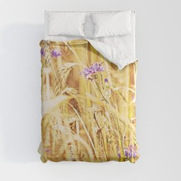 Blue in Gold Comforters