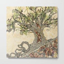 Textured tree Metal Print