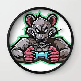 Sticker Rat rage crushing pad gameplay evolved rodent Wall Clock