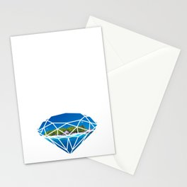 An island in diamond Stationery Cards