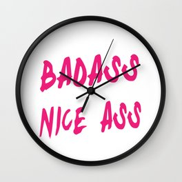 Train Like a Badass So I Can Have a Nice Ass Funny Fitness Wall Clock