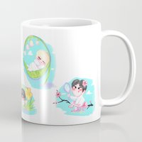 shinee Mugs featuring SHINee Flowers by sophillustration