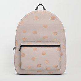 Rose gold polka dots - tropical bronze Backpack