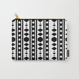 Black Tribal Pattern Carry-All Pouch