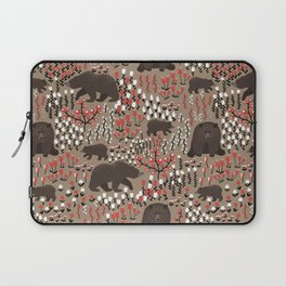 Bears in the Meadow Pattern Laptop Sleeve