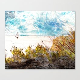 Banana River Windsurfer Canvas Print