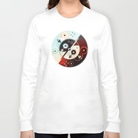 ying yang Long Sleeve T-shirts featuring Ying-Yang Blue Version by Luis Pinto