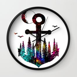 forest anchor Wall Clock